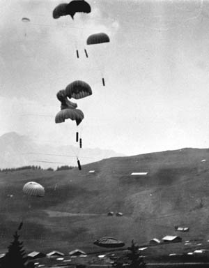 The OSS supported the French Resistance by parachuting agents, including Marines, into the Haute Savoie region of France.