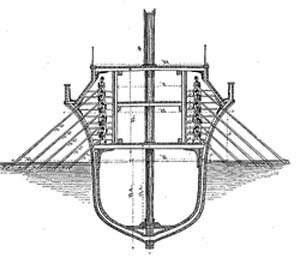 "Both the Romans and the Carthaginians had settled upon the quinquereme, or ""five,"" as their standard warship."