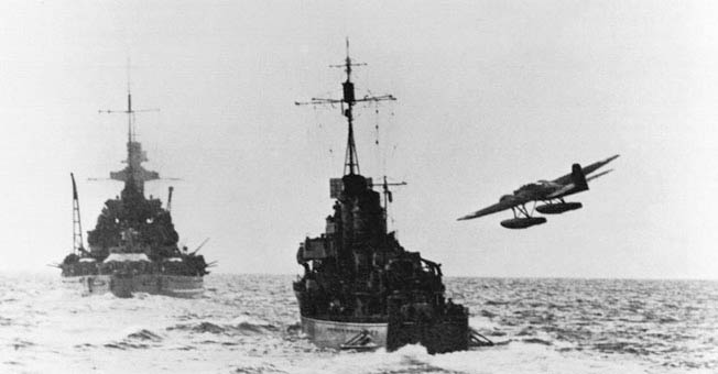 Scharnhorst, the great German raider, met her end in a storm of British shells and torpedoes in the Barents Sea.