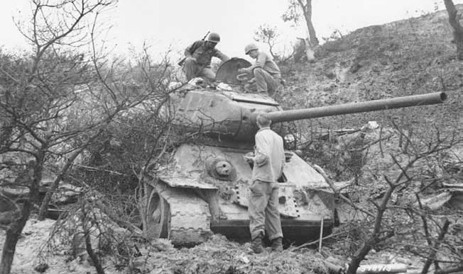 The T-34 rumbled out of the Russian plains to become the most formidable tank of WWII and Korea.