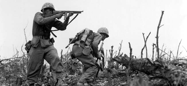 "Both British and U.S. soldiers liked the Thompson submachine or ""Tommy"" gun for its rugged dependability and knock-down firepower, and it was certainly in the fighting across Europe that the Thompson excelled."