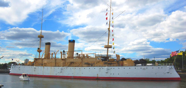 Commodore George Dewey's flagship USS Olympia, which has survived wars and the ravages of time, found a home in Philadelphia.