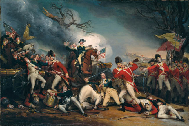 When Brig. Gen. Hugh Mercer's troops were routed by a bayonet charge at Princeton, the general stood his ground and was slain without quarter. The British regulars mistakenly thought they had just killed George Washington.