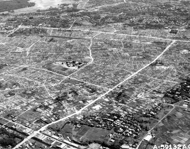 Looking more like Hiroshima after the atomic bombing, Tokyo, the world's third largest city, was reduced to rubble by war's end.