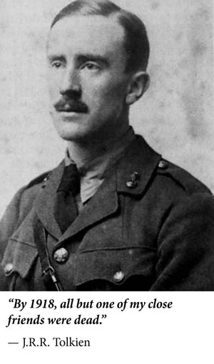 J.R.R. Tolkien in World War I.