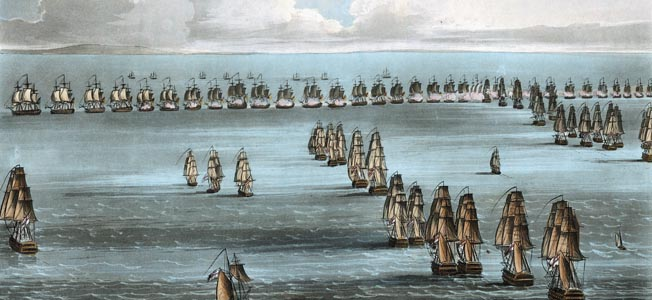 With Napoleon massing an invasion force on the French coast, English Admiral Horatio Nelson sailed home to prevent assault on the British homeland.
