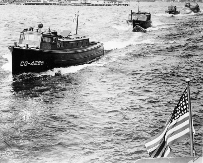 The Hall-Scott Invader and Defender engines were used to power a variety of marine vessels during World War II.  Among these were small craft such as this 38-foot U.S. Coast Guard patrol boat.