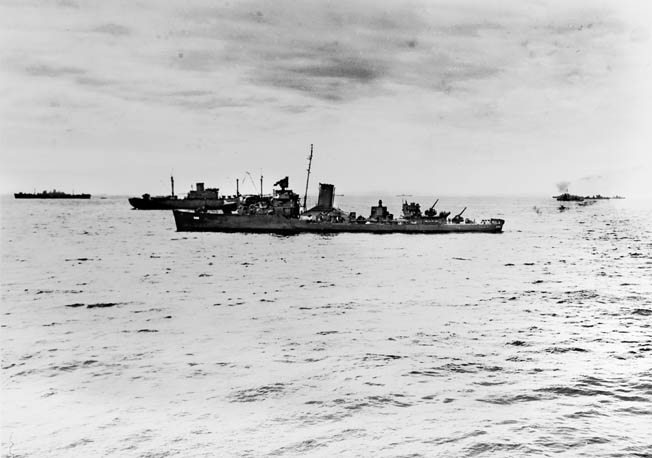 Although seriously damaged by fire from the Japanese cruiser Yubari, the destroyer USS Ralph Talbot managed to escape destruction at Savo Island by cloaking itself in a nearby rain squall.