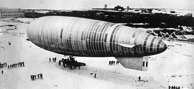 The 785-foot-long dirigible USS Macon was the pride of the Navy's Lighter Than Air Program in the late 1920s and early 1930s.