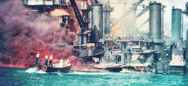 The USS West Virginia sank during the attack on Pearl Harbor with three trapped sailors who fought to survive for sixteen days.