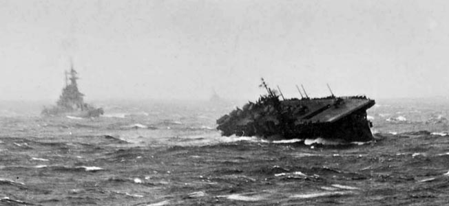 A powerful typhoon wreaked havoc with the U.S. Navy's task force 38 in December 1944.