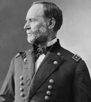 Union General William T. Sherman's March to the Sea was a defining chapter in the American Civil War; Sherman became remembered in the South as a brutal proponent of total war.