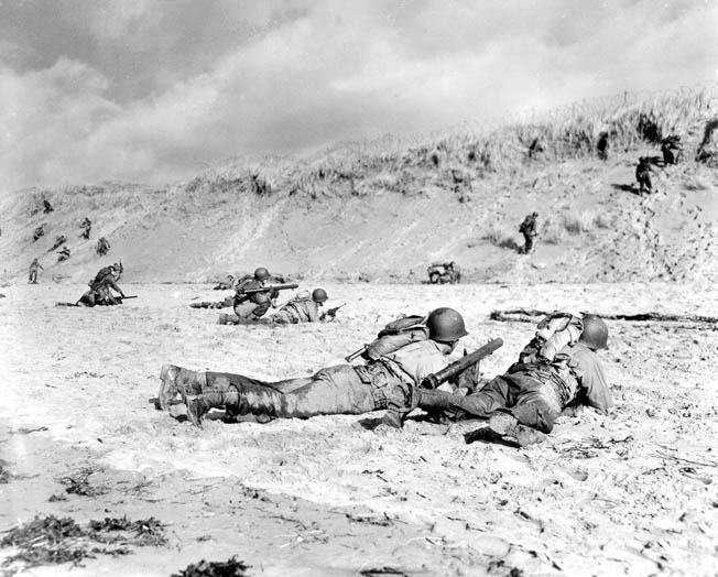 American Bazooka Teams Train In England For Combat On Omaha Beach Although Considerably Smaller