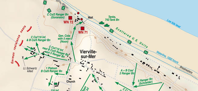 Around 3 AM on June 6, Vierville-sur-Mer locals awoke to the sound of U.S. Liberator bombers preparing the beach for the largest invasion in history.