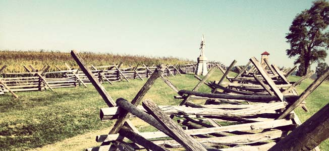 The rolling farmland of western Maryland is the site of the Antietam National Battlefield, the bloodiest one-day battle of the American Civil War.