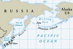 Spanning the northern Pacific gap between Japan and Alaska, the Aleutians were an inhospitable-but-strategic prize for whichever side could hold it.