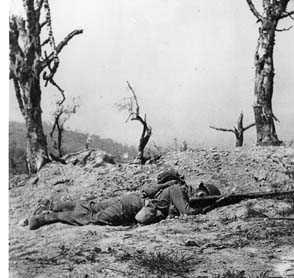 This American soldier was killed in action at Anzio during one of many attempts to break out of the German encirclement of the beachhead.