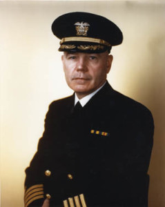 Captain Samuel N. Moor commanded the USS Quncy during the Guadalcanal operations.
