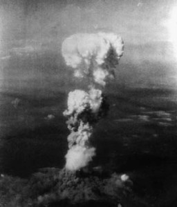 A mushroom cloud billows 20,000ft above Hiroshima.
