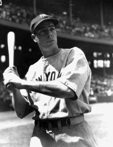 Joe Dimaggio played baseball while in the military.