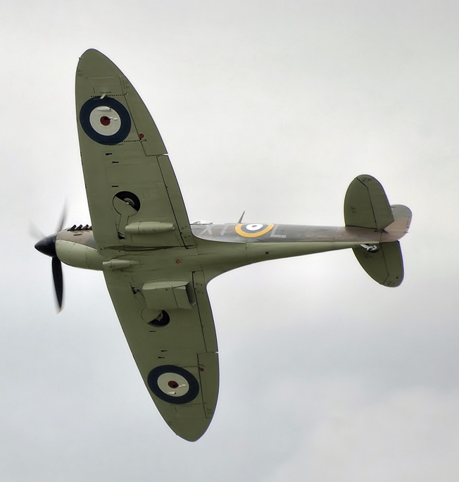 The only Supermarine Spitfire that flew during the Battle of Britain and is still airworthy today is this Mk IIA. The Spitfire became the stuff of legend during the difficult days of the Battle of Britain.