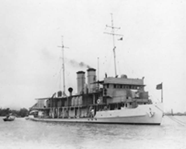The U.S. Navy gunboat Panay was typical of the small river vessels that patrolled the waters of the Yangtze River during the 1920s and 1930s to protect American interests in China.