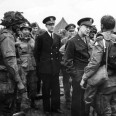 General Dwight D. Eisenhower speaks to paratroopers of the 101st Airborne Division before their jump into Normandy. Eisenhower delayed the invasion of Europe for one day to provide better weather conditions for the airborne drop.