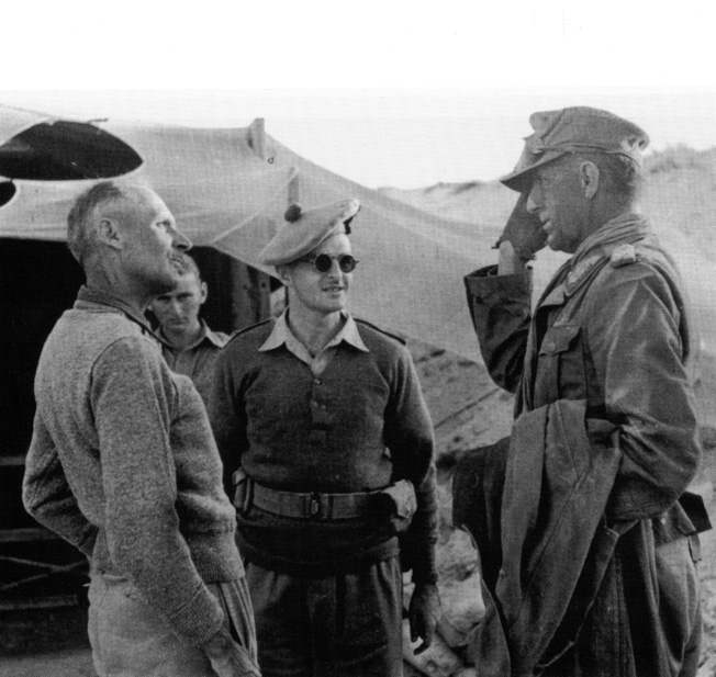 Afrika Korps commander Ritter von Thoma meets Field Marshal Bernard Montgomery following the capture of German general during the fighting at El Alamein and the long German withdrawal to Tunisia and surrender.
