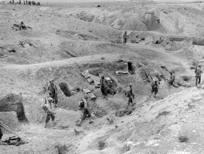The U.S. 601st Tank Destroyer Battalion faced down the German 10th Panzer Division in the hills east of the Tunisian town.