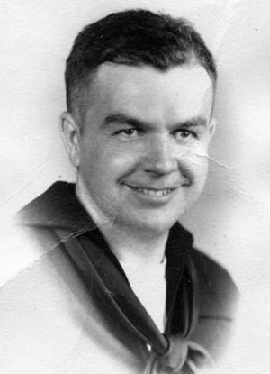 Radioman 3rd Class Howard G. Hobbs participated in the damage control efforts aboard the Goodhue.