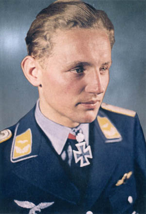 After downing 150 enemy planes, Erich Hartmann earned the Knight's Cross, and later received Swords and Diamonds and Oak Leaves. All three pilots served with the West German Air Force after World War II.