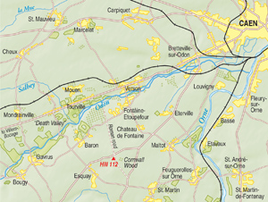 Moving from Caen toward Villers-Bocage, the British ran into stiff opposition at Hill 112, located about seven miles southwest of Caen.