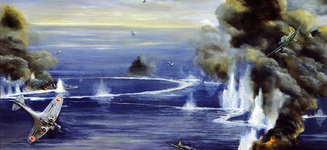 In the months following Pearl Harbor, the Imperial Japanese Navy conducted operations at sea, threatening British Royal Navy dominance in the area.