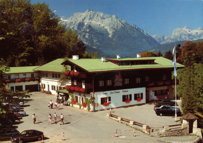 Formerly used as a headquarters for the RSD, the SS security police, the Hotel Zum Turken is now part of the  lure for tourists to Berchtesgaden.