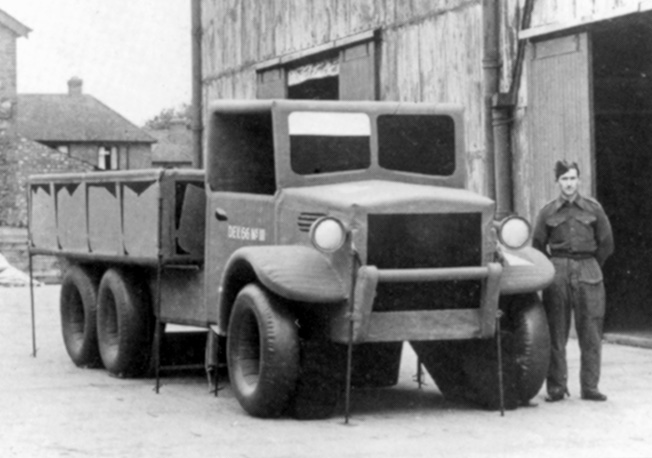 Part of Operation Fortitude, designed to deceive the Germans, this inflatable three-ton truck was one of many placed in marshalling areas in Britain.