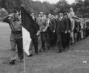 A Home Guard parade.