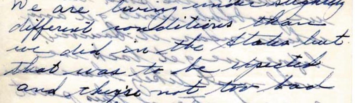 WWII Letters: Corporal James. G. Delaney
