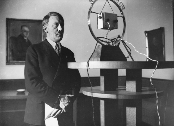 On February 1, 1933, Adolf Hitler addresses the German nation over the radio. Hitler had just been named chancellor, and soon he would assume absolute dictatorial power.