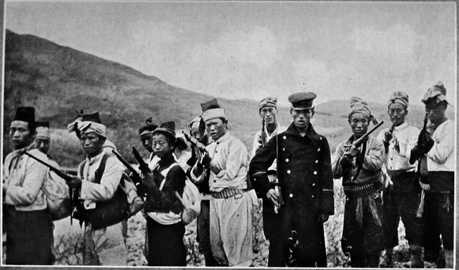 These fierce guerrilla troops are among a number of Koreans who rebelled against Japanese rule in the early 20th century. This photo was taken in 1907, three years prior to the Japanese annexation that essentially made Korea a vassal of the powerful island nation.