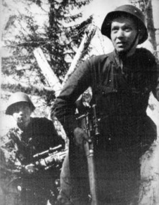 A Soviet sniper and his spotter, who claimed 114 Germans killed in a two-month period, set out on another mission.