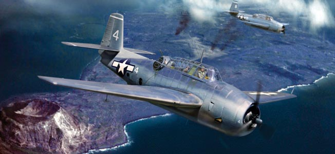 A hazardous bombing run on Iwo Jima brought war home with stark reality for the crew of an American carrier plane.