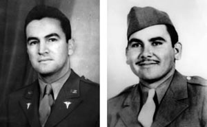 Major Hector P. Garcia (left); Pfc. Felix Longoria (right)