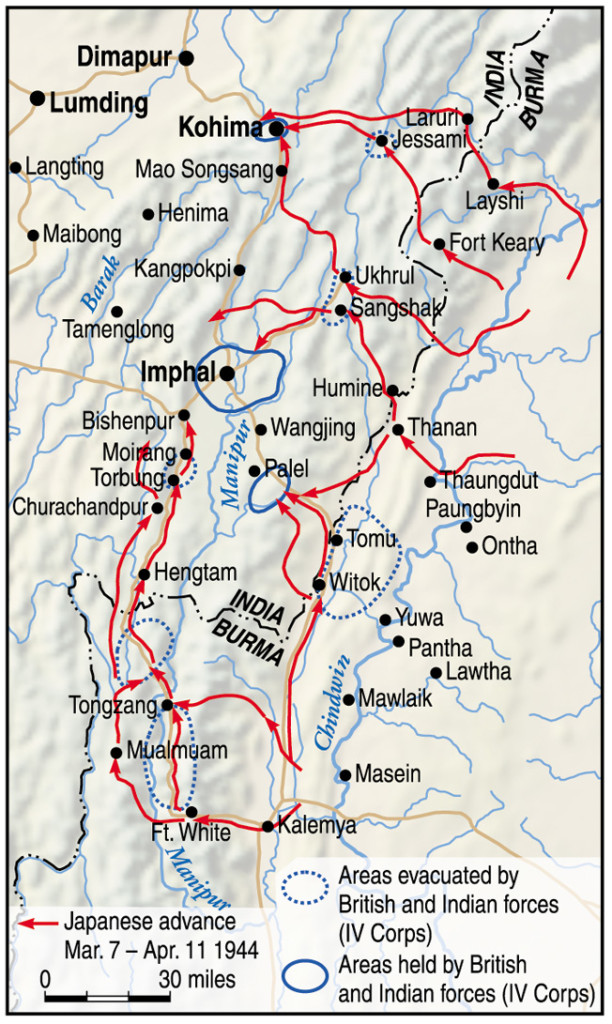 The mountainous jungle terrain along the frontier of Burma and India proved almost as difficult an adversary as an armed enemy. Both sides suffered from supply shortages due to difficulty negotiating transportation routes.