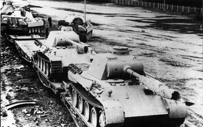 The Mark V Panther medium tank was the German response to the outstanding performance of the Red Army's T-34. The Panther sported sloped hull armor and a 75mm high velocity cannon.