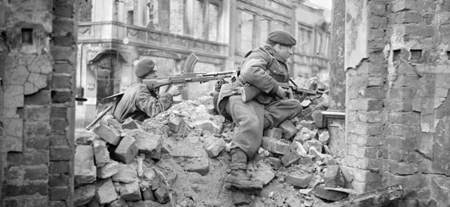 Although lives were continuing to be lost, German resistance in northern Europe crumbled in the spring of 1945.