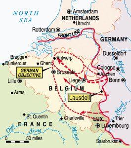 The objective of the German breakthrough in the Ardennes Forest was to effect a crossing of the River Meuse and capture the important supply port of Antwerp, Belgium.