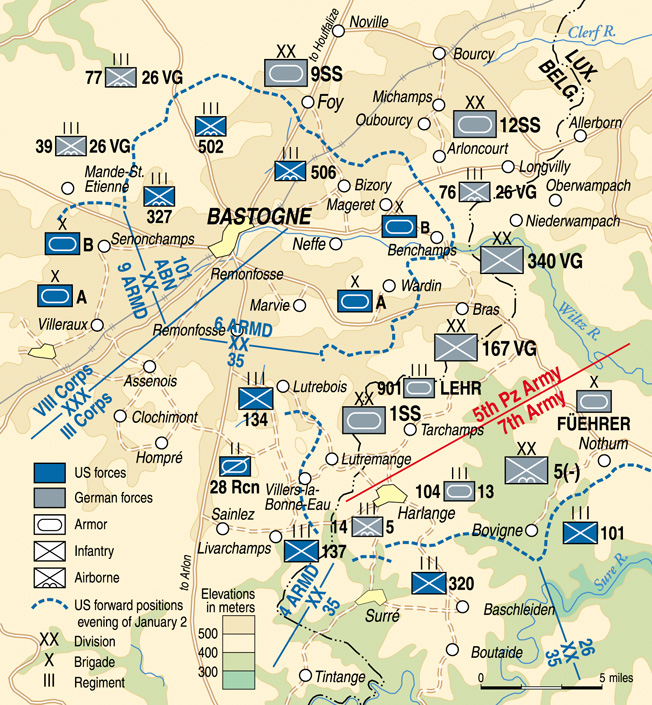 """Originally formed as Hitler's personal bodyguard, the 1st SS Panzer Division """"Leibstandarte"""" failed to secure the Belgian crossroads town at Bastogne, which was a key to the entire German offensive."""