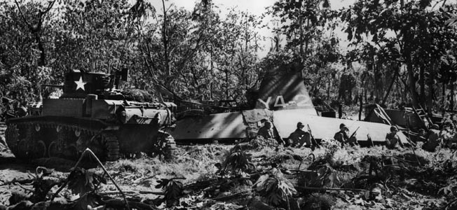 The American 193rd Tank Battalion played a pivotal role in the capture of Makin in the Pacific in 1943.