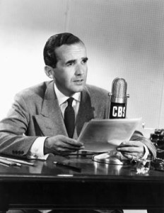 EDWARD R. MURROW (1908-1965). American news commentator. Photographed c1946.