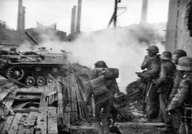 Strachwitz continued to work near miracles at the battlefront with ever shrinking panzer forces in mid-1944. He led panzer forces in fierce fighting in East Prussia and the Baltic States, temporarily delaying vastly larger Russian forces.